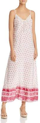 En Creme Crochet-Inset Printed Maxi Dress - 100% Exclusive
