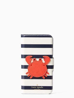 Kate Spade Crab applique folio iphone cases x case