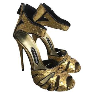 Tom Ford Gold Leather Sandals