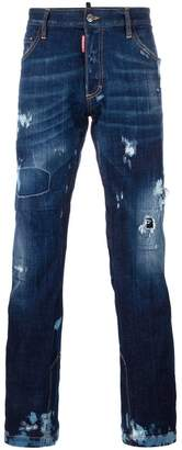 DSQUARED2 Ski distressed flared jeans