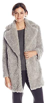 Kensie Women's Notch-Collar Faux-Fur Coat $106.81 thestylecure.com