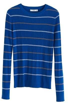 MANGO Contrasting stripes cotton sweater