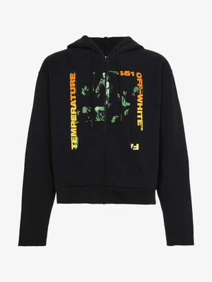 Off-White Temperature Print Hooded Sweatshirt