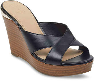 4ed89bc76a6 GUESS Black Wedge Women s Sandals - ShopStyle