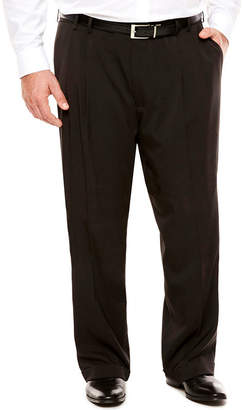 Van Heusen Men's Traveler Stretch Pleated Straight-Leg Dress Pant- Big and Tall