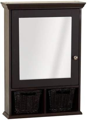 ZPC Zenith Products Corporation Zenith TH22CH, Medicine Cabinet with Wicker Baskets
