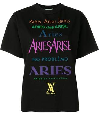 Aries logo print T-shirt