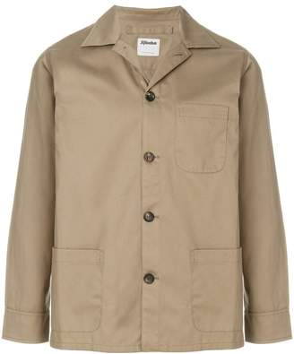 Jijibaba single breasted gabardine jacket