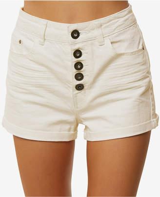 O'Neill Juniors' Brody Button-Fly Cotton Denim Shorts