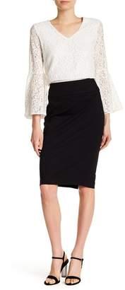 Catherine Malandrino High Waist Midi Skirt