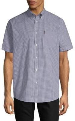 Ben Sherman Micro Gingham Cotton Button-Down Shirt