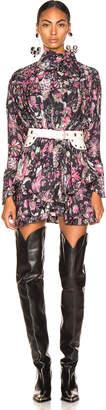Isabel Marant Josephine Dress in Faded Black | FWRD