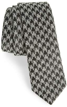 The Tie Bar Houndstooth Thrill Silk Tie
