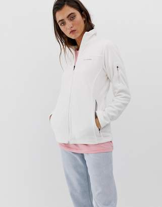 Columbia Fast Trek II fleece jacket in white