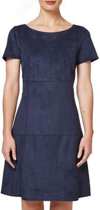 Esprit Short-Sleeved Straight Denim Dress