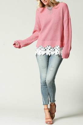 Kyemi Lace Hem Sweater