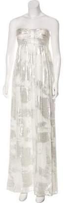 Aidan Mattox Metallic Strapless Dress