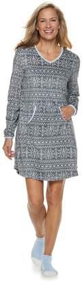 Croft & Barrow Women's Velour Sleepshirt & Sock Set