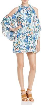 Parker Anastasia Cold-Shoulder Silk Dress $298 thestylecure.com