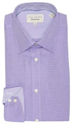 Ted Baker Axle Endurance Dobby Texture Trim Fit Dress Shirt