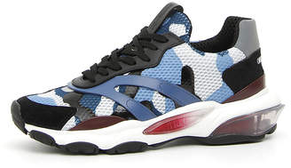 Valentino Men's Bounce Camo Leather Sneakers