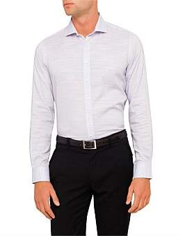 Abelard Lecce Linen-Esque Slim Fit Shirt