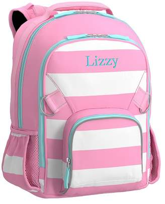 Pottery Barn Kids Large Backpack, Fairfax Pink/White Stripe