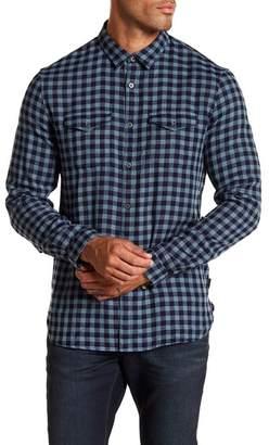 John Varvatos Collection Checkered Western Trim Fit Shirt