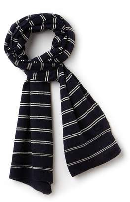 Lacoste Women's Striped Cotton And Linen Scarf