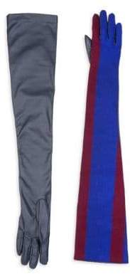 Sacai Long Striped Gloves