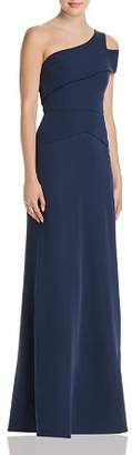 BCBGMAXAZRIA One-Shoulder Gown