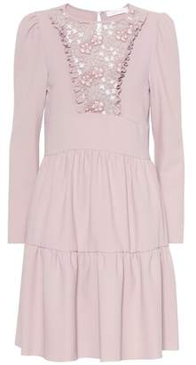 See by Chloe Floral lace bib dress