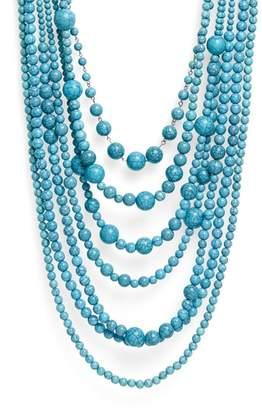 Natasha Big Bertha Beaded Multistrand Necklace