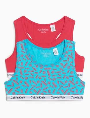 Calvin Klein girls 2-pack modern cotton bralette