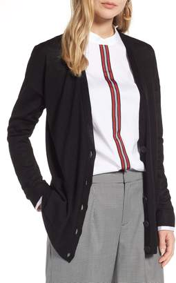 Halogen V-Neck Merino Wool Cardigan
