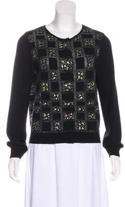 Giambattista Valli Virgin Wool Patterned Cardigan