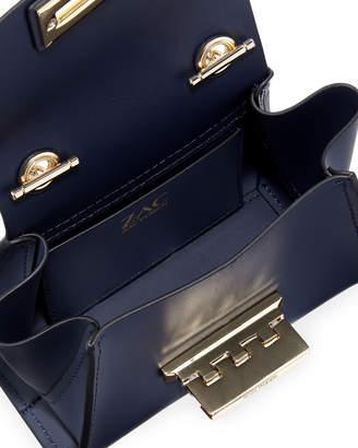 Zac Posen Eartha Mini Chain Crossbody Bag, Dark Blue