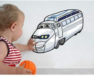 Mural Style and Apply Kid's Bus Wall Decal - wall print decal, sticker, vinyl art home decor - DS 1009 - 31in x 25in
