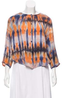 Raquel Allegra Silk Tie-Dye Top w/ Tags