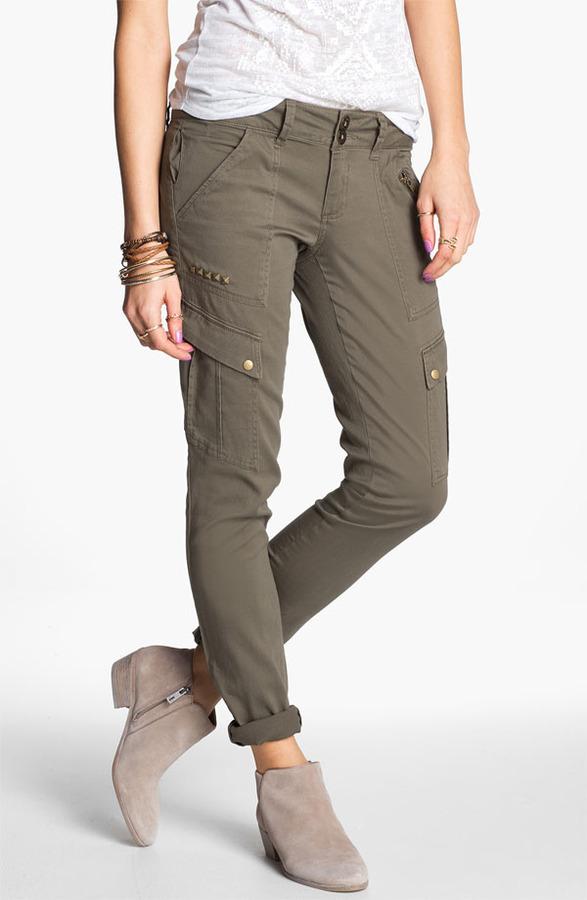 Jolt Studded Skinny Cargo Pants (Juniors) (Online Only)