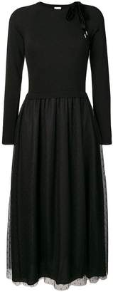 RED Valentino point d'esprit tulle knitted dress