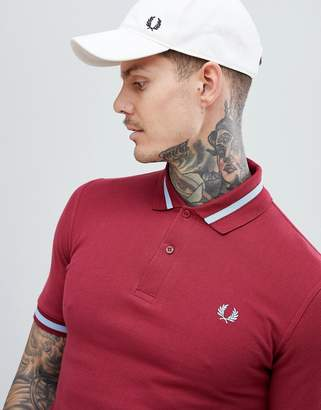 Fred Perry Reissues tipped polo in burgundy