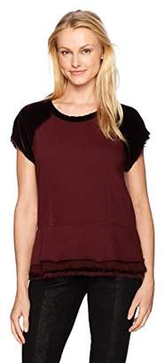 Wilt Women's Peplum Sweatshirt Mixed