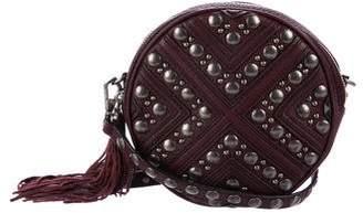 Rebecca Minkoff Embellished Leather Circle Crossbody Bag