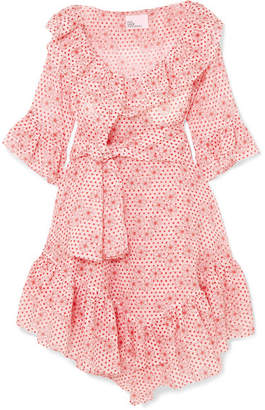 Lisa Marie Fernandez Laura Ruffled Printed Cotton-voile Dress - Red