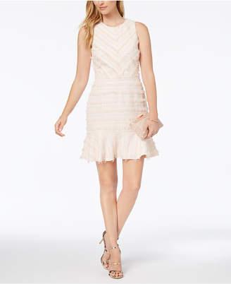 Adelyn Rae Eyelash Fringe A-Line Dress