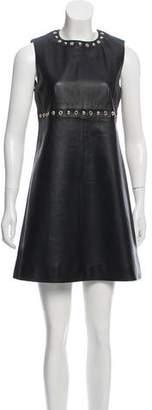 Yves Salomon Leather Mini Dress w/ Tags