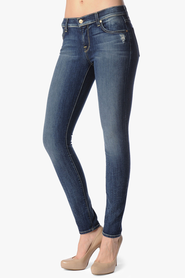 7 For All Mankind Vintage 7 Collection: The Skinny In Grinded Blue