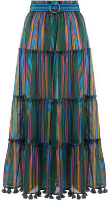 Zimmermann Allia Stripe Linear Skirt