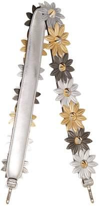 Fendi Strap You flower-embellished leather bag strap